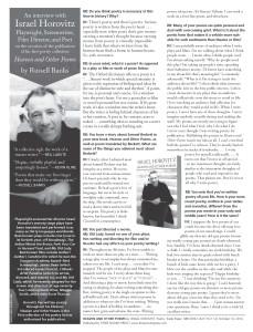 IsraelHorovitz-RussellBanks-Interview